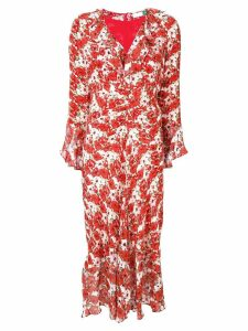Rixo Coleen printed dress - Red