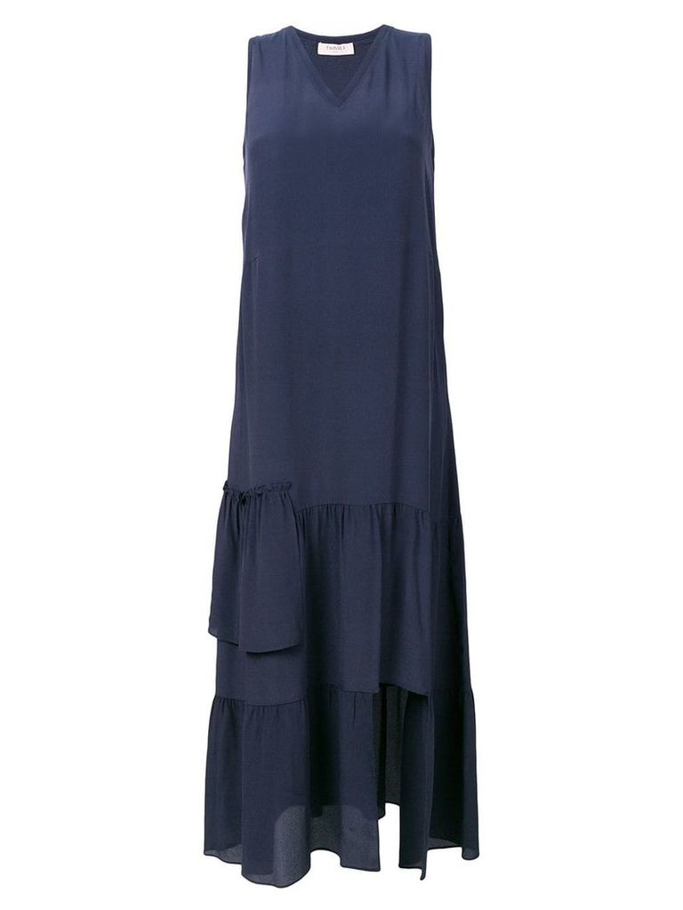 Twin-Set tiered maxi dress - Blue