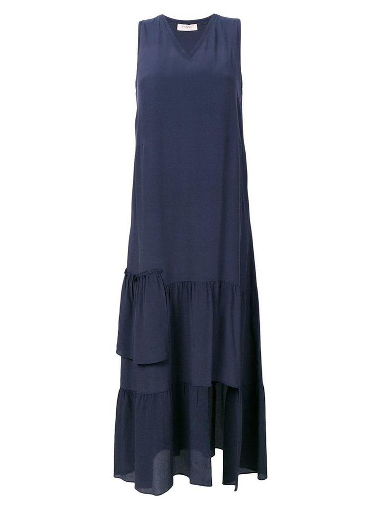 Twin-Set tiered maxi dress - Blue
