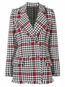 MSGM regular fit houndstooth jacket - Black