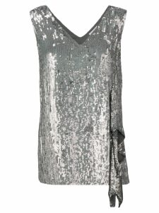 P.A.R.O.S.H. sequinned asymmetric top - Silver
