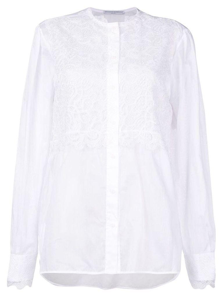 Ermanno Scervino lace panel blouse - White