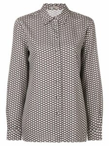 Bottega Veneta butterfly stamp print shirt - Neutrals
