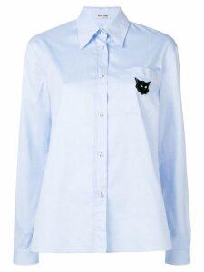 Miu Miu long sleeved shirt - Blue