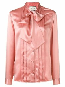 Gucci bow-tie collar shirt - Pink