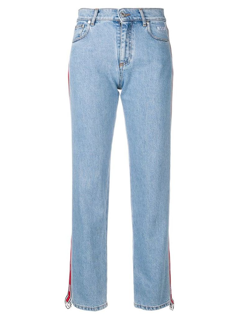 MSGM ruffled shirt - Blue