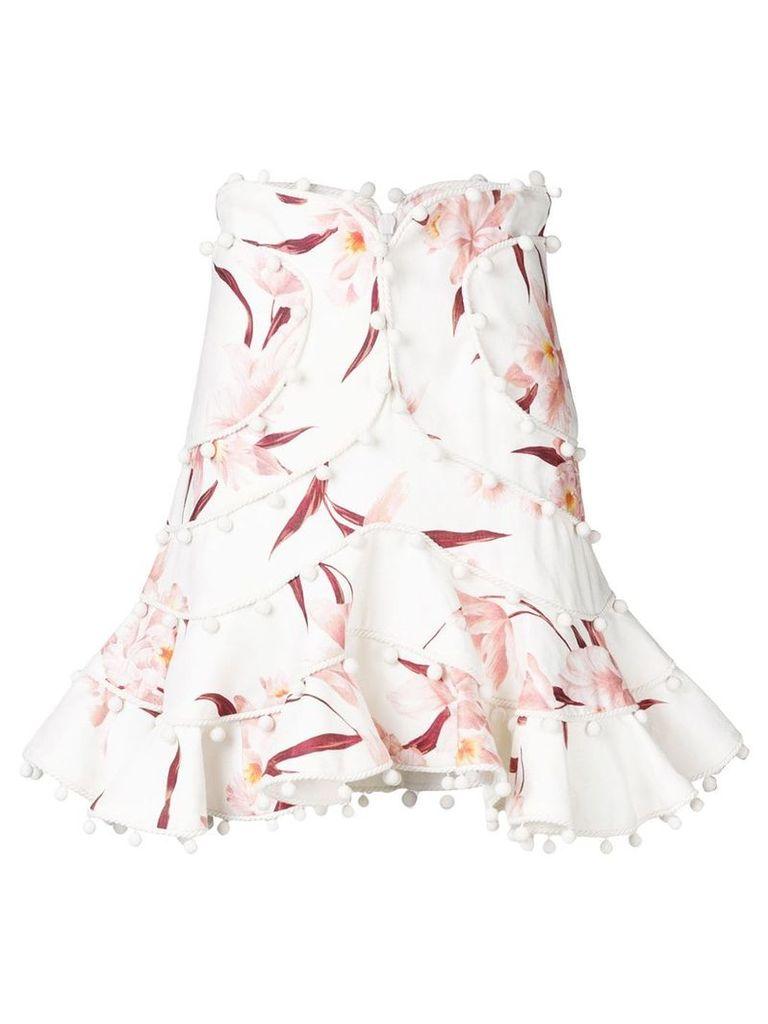 Zimmermann rope trimmed skirt - Neutrals