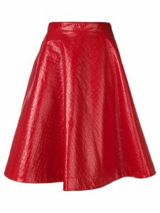 MSGM polished A-line skirt - Red