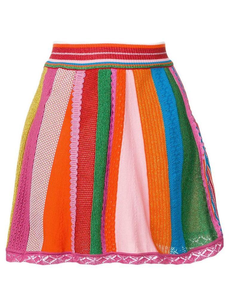 Moschino intarsia knit skirt - Green
