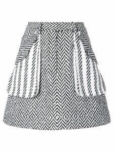 Oscar de la Renta A-line herringbone skirt - Black
