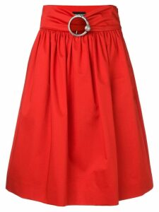 Boutique Moschino belted midi skirt - Red