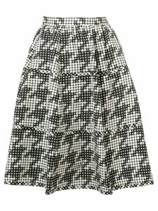 Bottega Veneta polka-dot flared skirt - Black