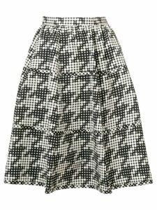Bottega Veneta polka-dot flared skirt - Black