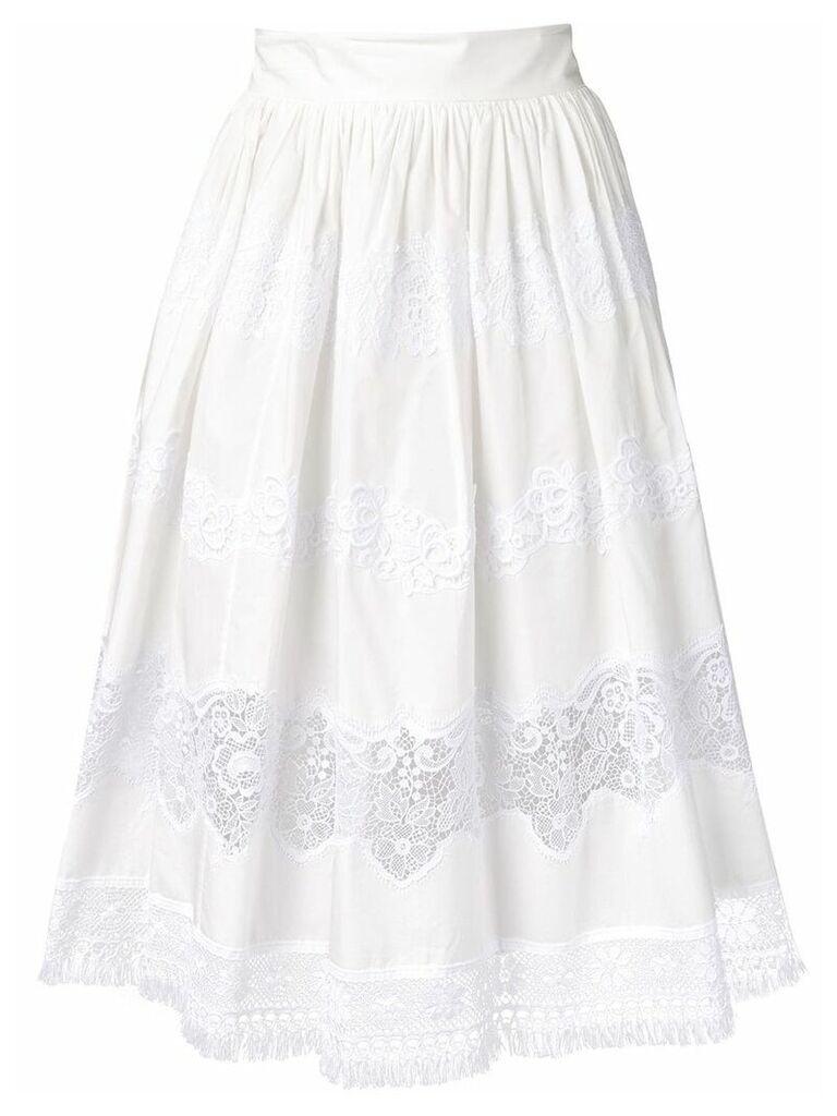Dolce & Gabbana lace panel skirt - White