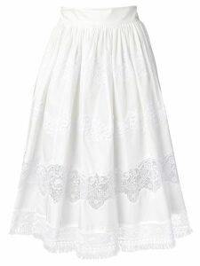 Dolce & Gabbana lace panel skirt - White