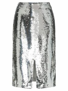Ganni sonora sequin pencil skirt - Metallic