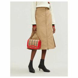 Lagan cotton and silk-blend skirt