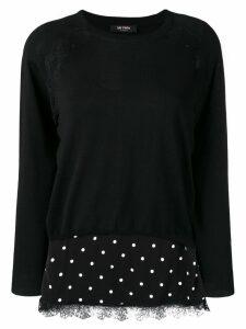 Twin-Set fine knit layered sweater - Black