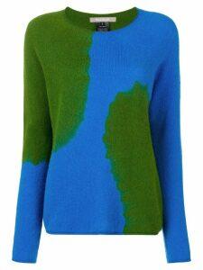 Suzusan two-tone printed sweater - Blue