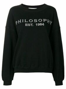 Philosophy Di Lorenzo Serafini embroidered logo sweatshirt - Black