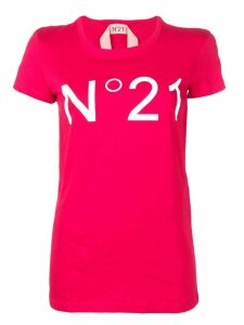 Nº21 printed logo T-shirt - Red