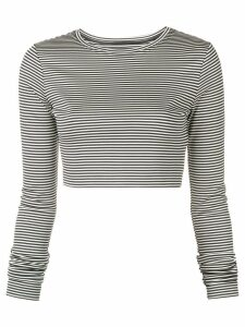 Marc Jacobs striped crop top - Black