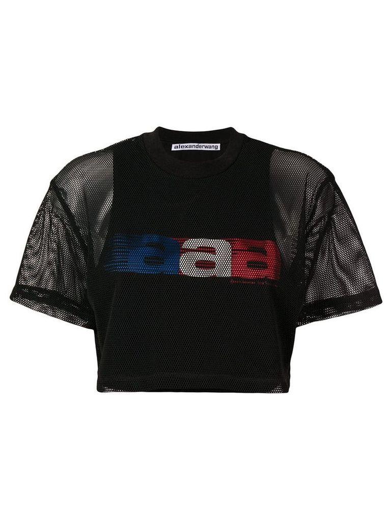 Alexander Wang aaa mesh cropped T-shirt - Black