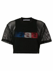 Alexander Wang aaa mesh cropped T-shirt - Black