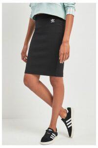 Womens adidas Originals Black Midi Skirt -  Black