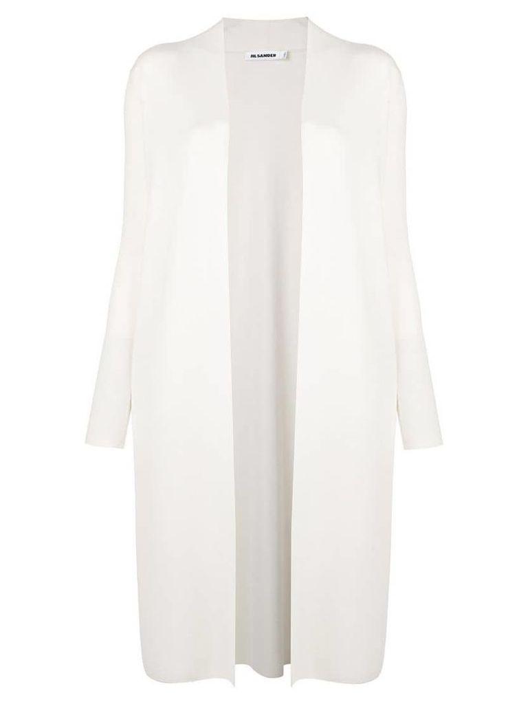 Jil Sander classic open-front coat - Neutrals
