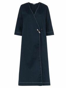 Ganni Hewson embroidery detail coat - Blue