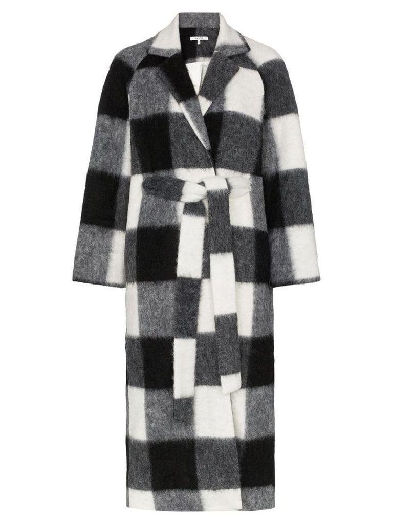 Ganni Mckenney checked coat - Black