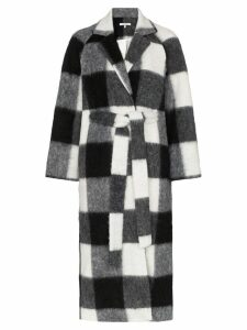 Ganni Mckenney checked coat - Black