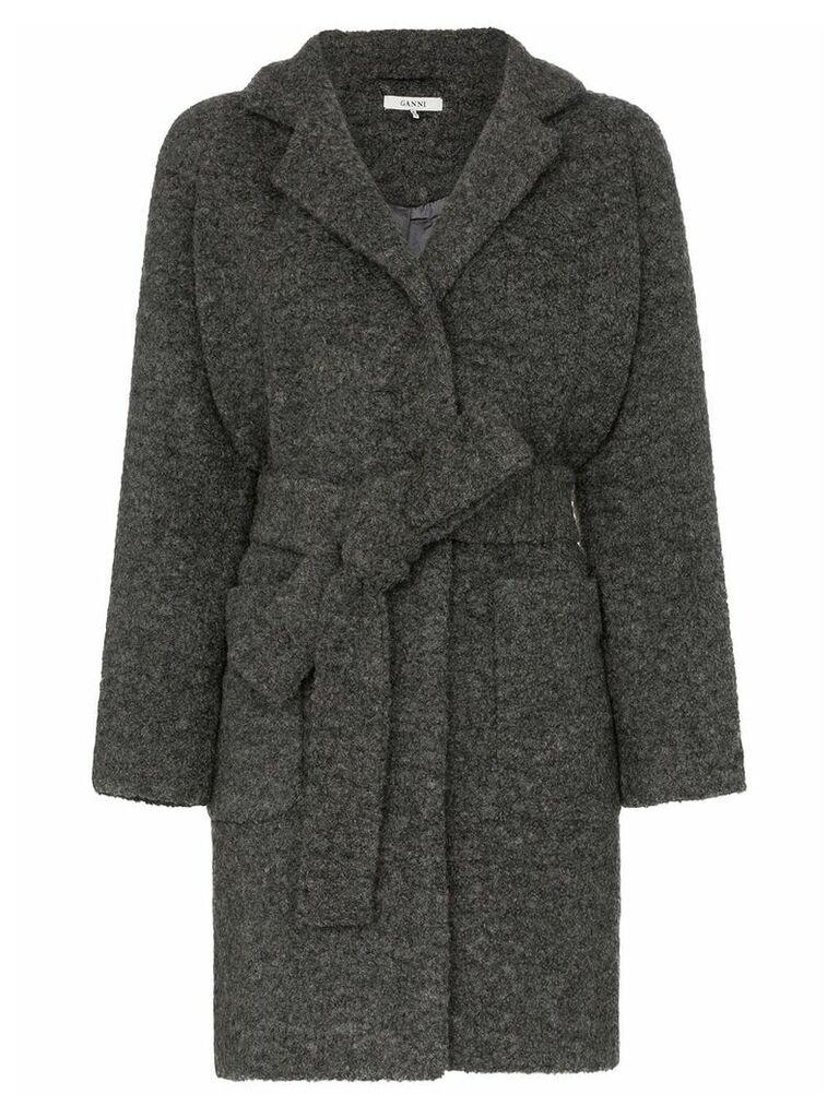 Ganni Fenn belted coat - Grey