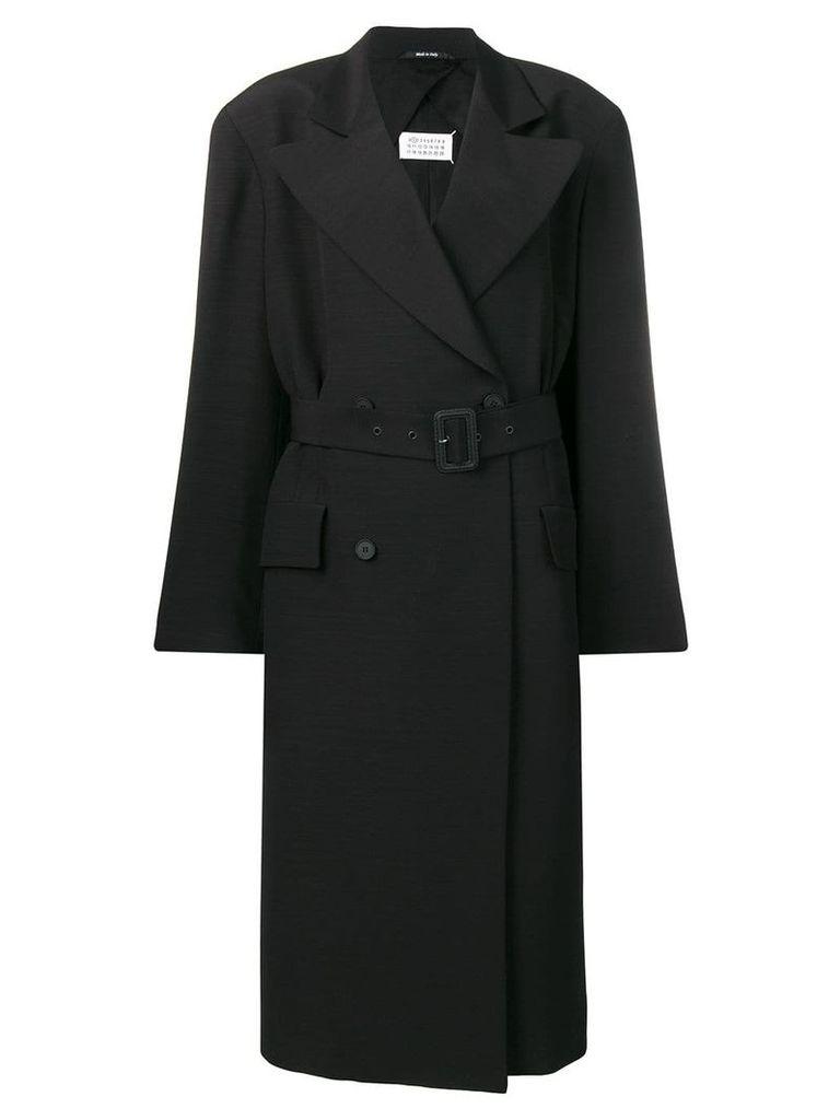 Maison Margiela long classic coat - Black