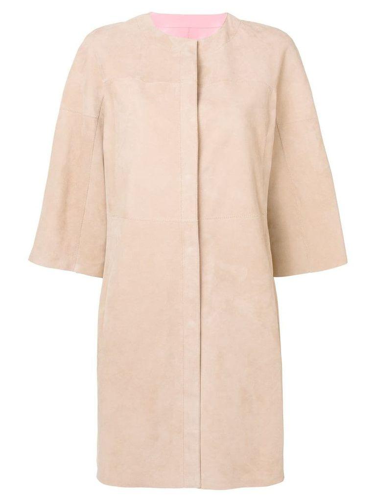 Drome reversible leather coat - Neutrals