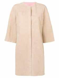 Drome reversible leather coat - Neutrals