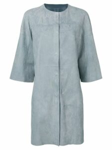 Drome reversible leather coat - Blue