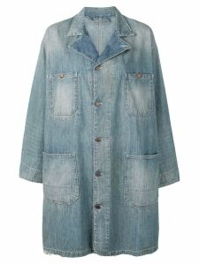 6397 distressed denim coat - Blue