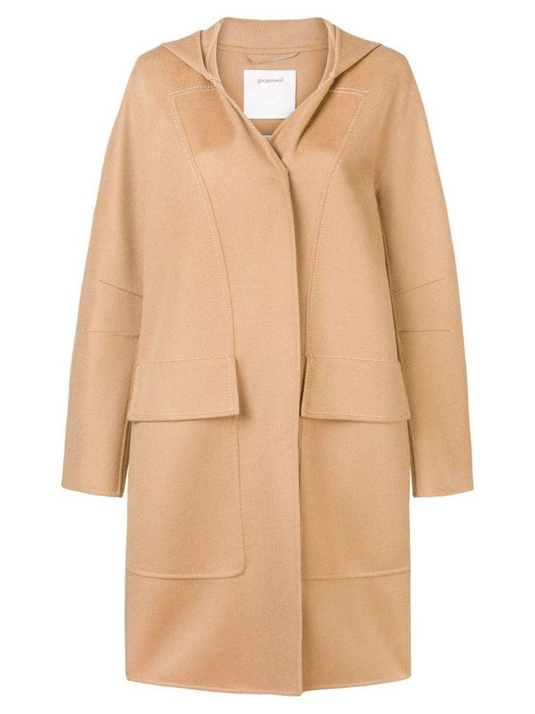 Sportmax single breasted duffle coat - Brown