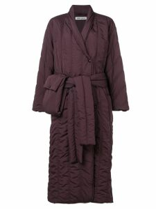 Henrik Vibskov Pipe quilted shell coat - Purple