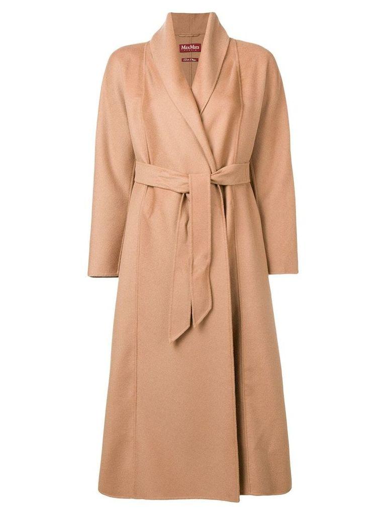 Max Mara Studio belted midi coat - Neutrals
