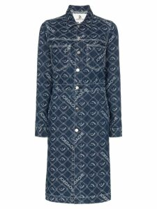 Jordache denim mid-length button-down coat - Blue