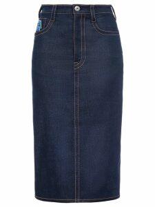 Prada raw denim skirt - Blue