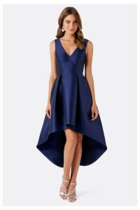 Womens Forever New Sleeveless Satin Occasion Dress -  Blue