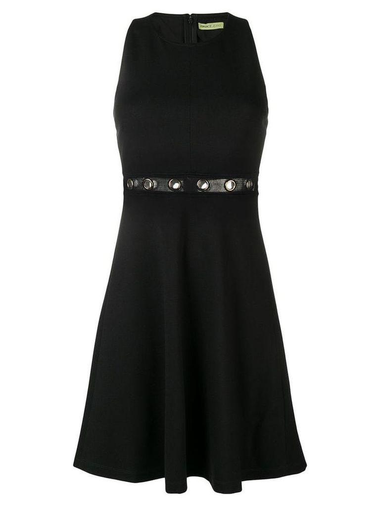 Versace Jeans gold eyelet dress - Black