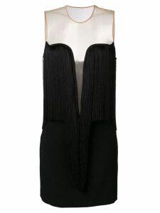 Stella McCartney fringed V-neck dress - Black