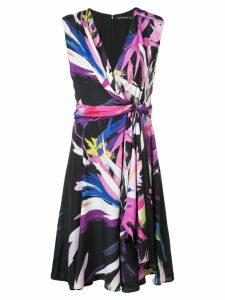 Josie Natori printed midi dress - Pink