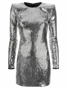 Dsquared2 sequinned fitted dress - Silver