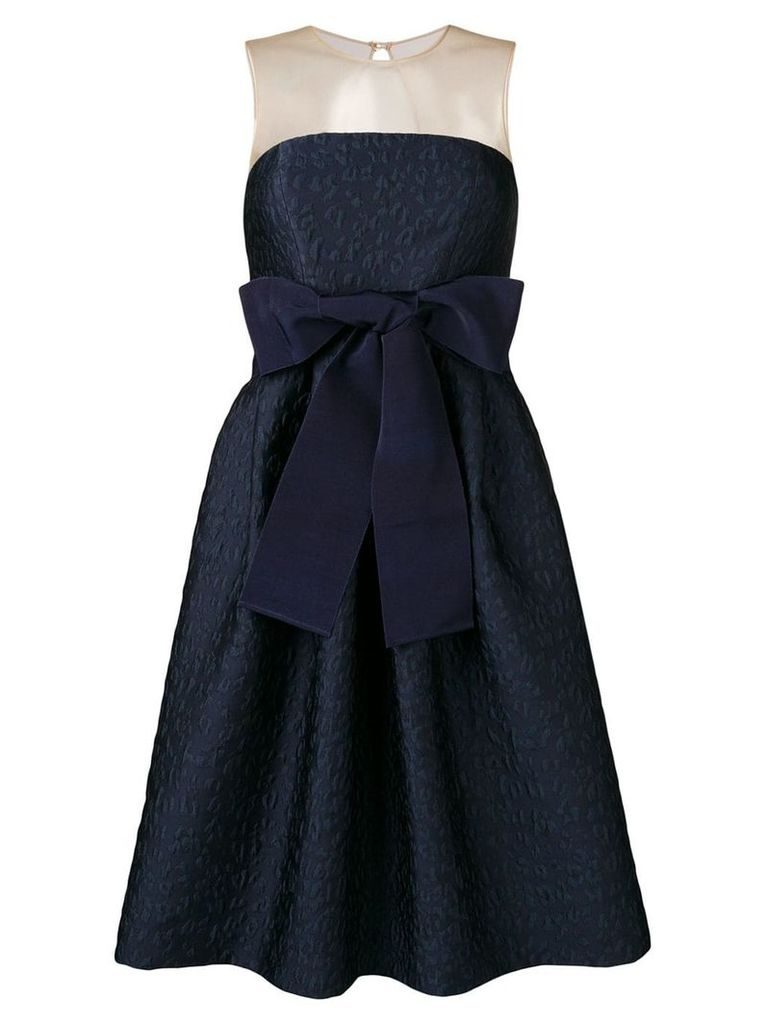 P.A.R.O.S.H. bow detail dress - Blue